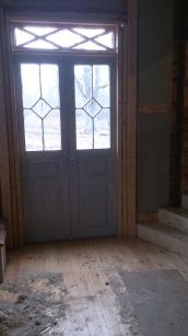 Precis lagt in det nya golvet och bygt nya trappan upp 2013/2014.