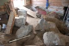 all sten vi var tvungna att bära ut.