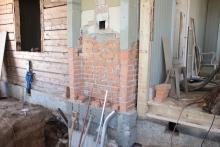 murstocken under renovering.
