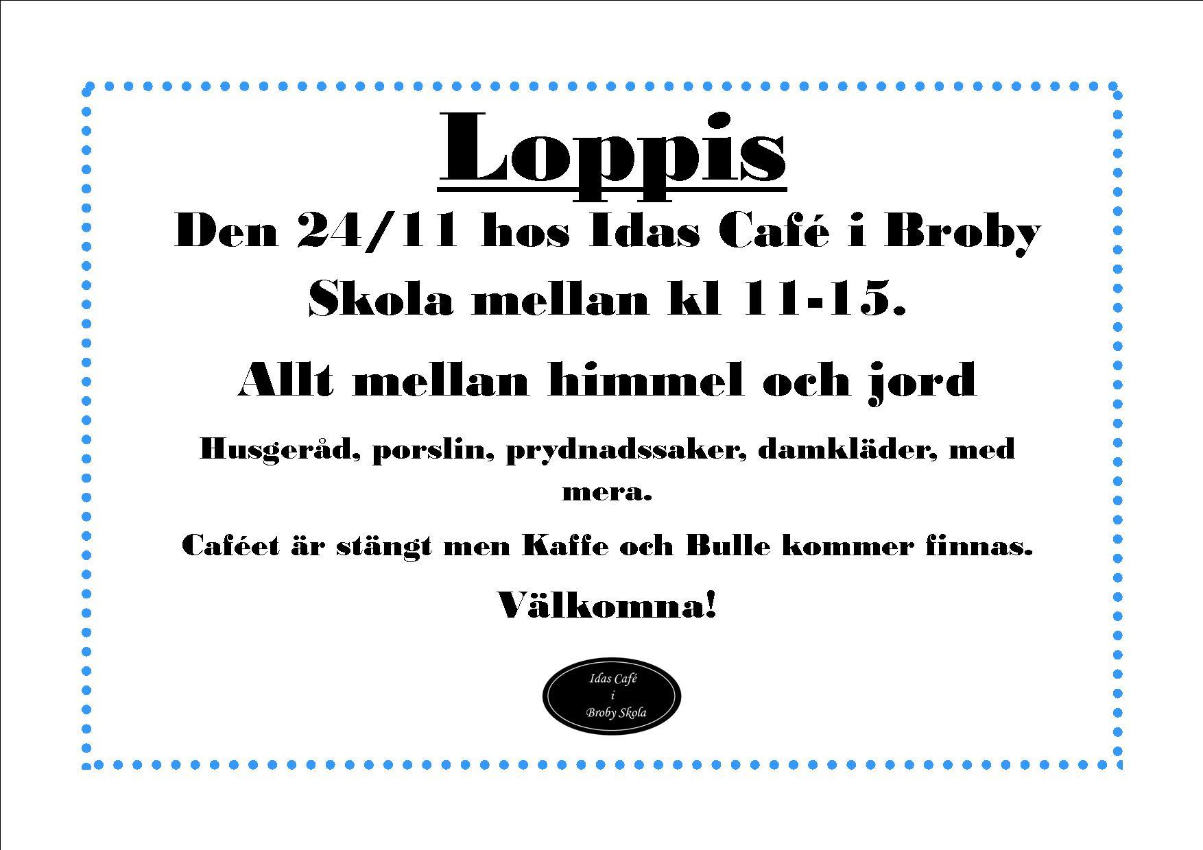 loppis Idas Café november 2019